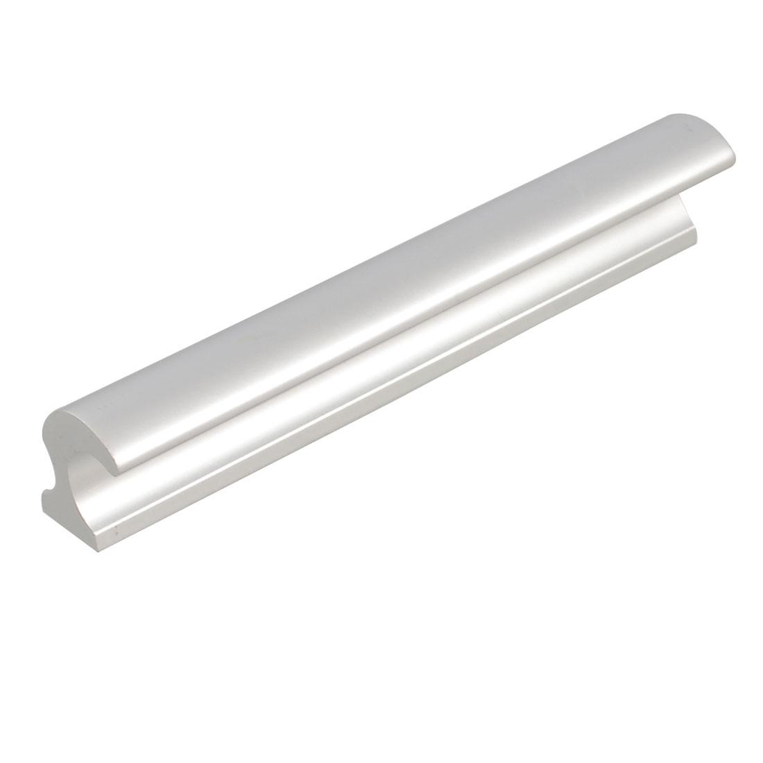 """Brushed Nickel Dresser Cabinet Twist Door Pull Handle 4.6"""" Length"""