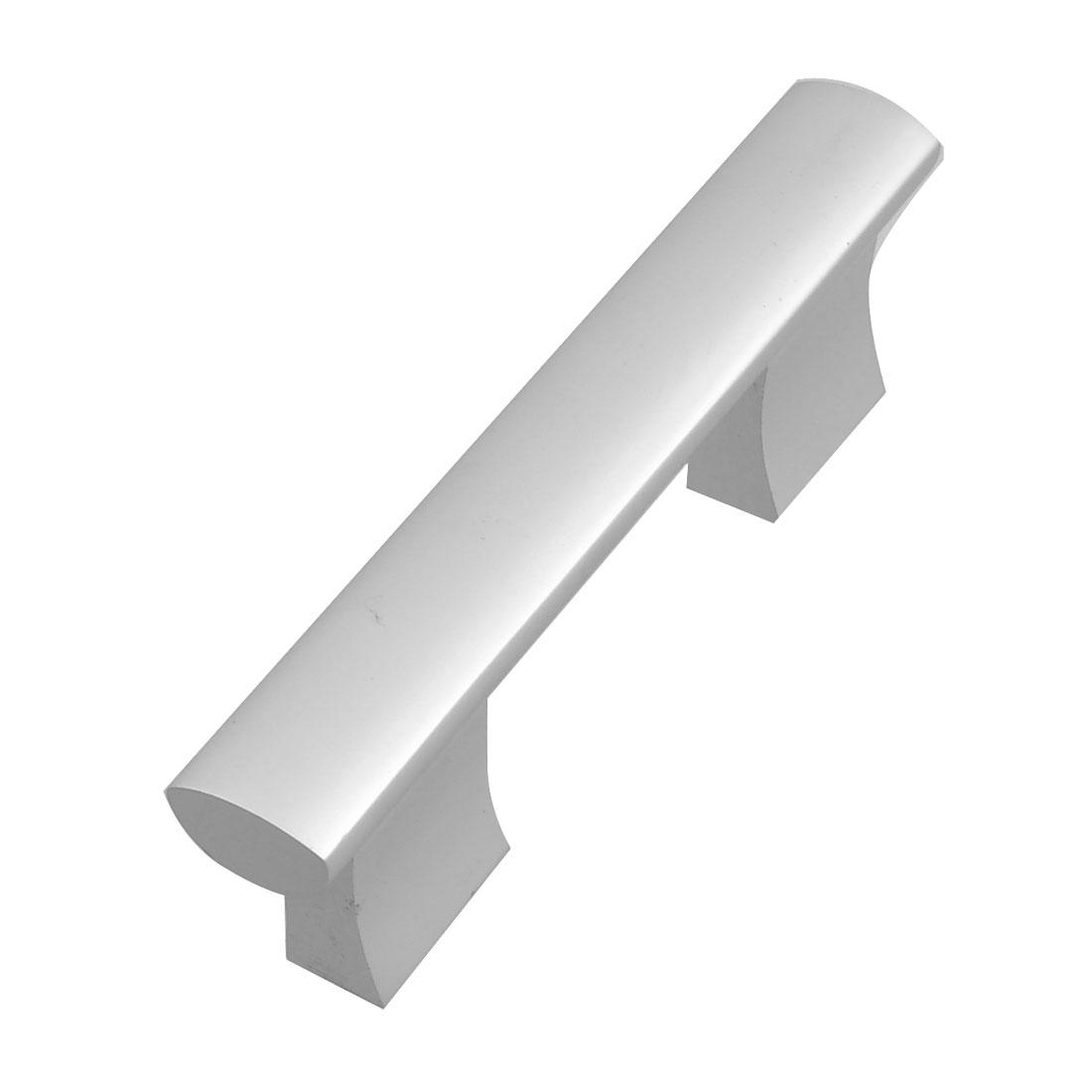 "Cupboard Screw Fix Silver Tone Aluminum 3.9"" Length Bar Pull Handle"