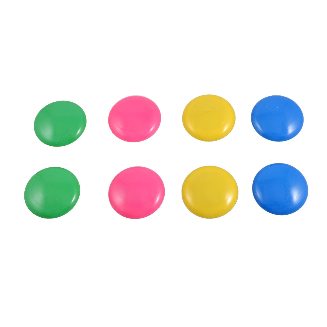8 Pcs Whiteboard Assorted Colors Round Plastic Magnetic Button