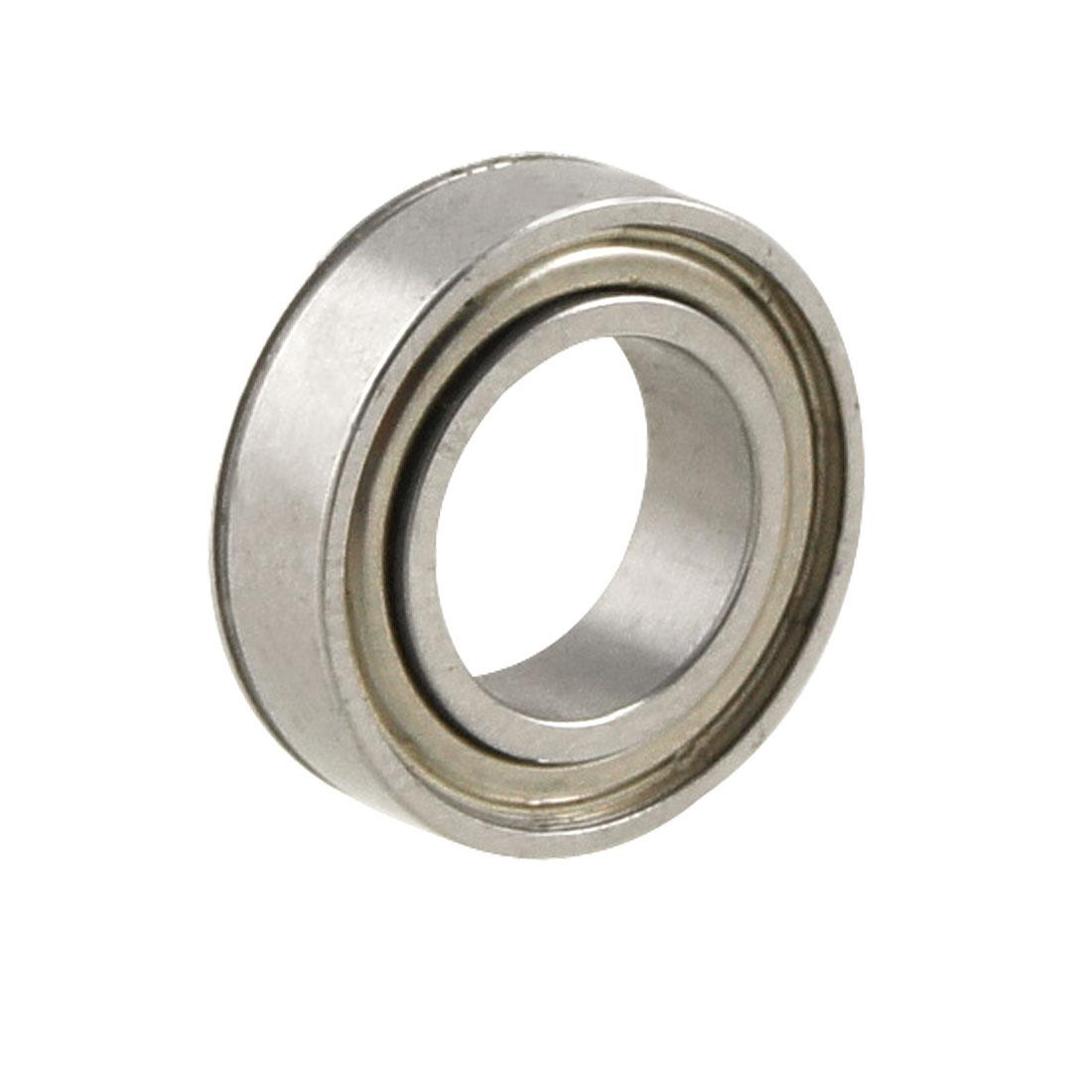 Silver Tone Metal 8mm x 14mm x 4mm Shield Ball Bearing