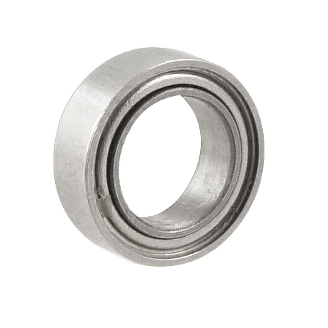 Silver Tone Metal 8mm x 5mm x 2.5mm Shield Ball Bearing