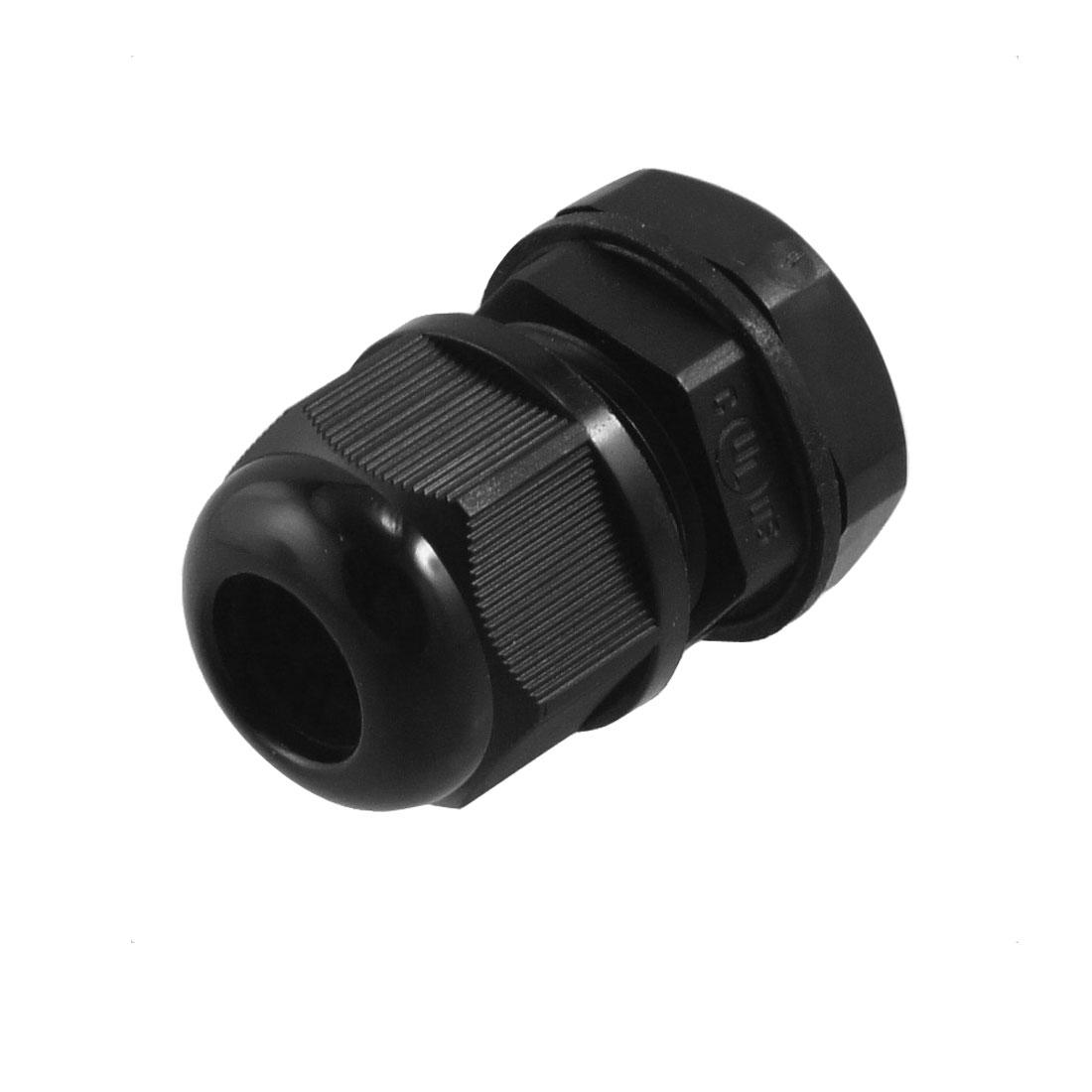 Black Plastic Waterproof PG11 5-10mm Diameter Cable Gland