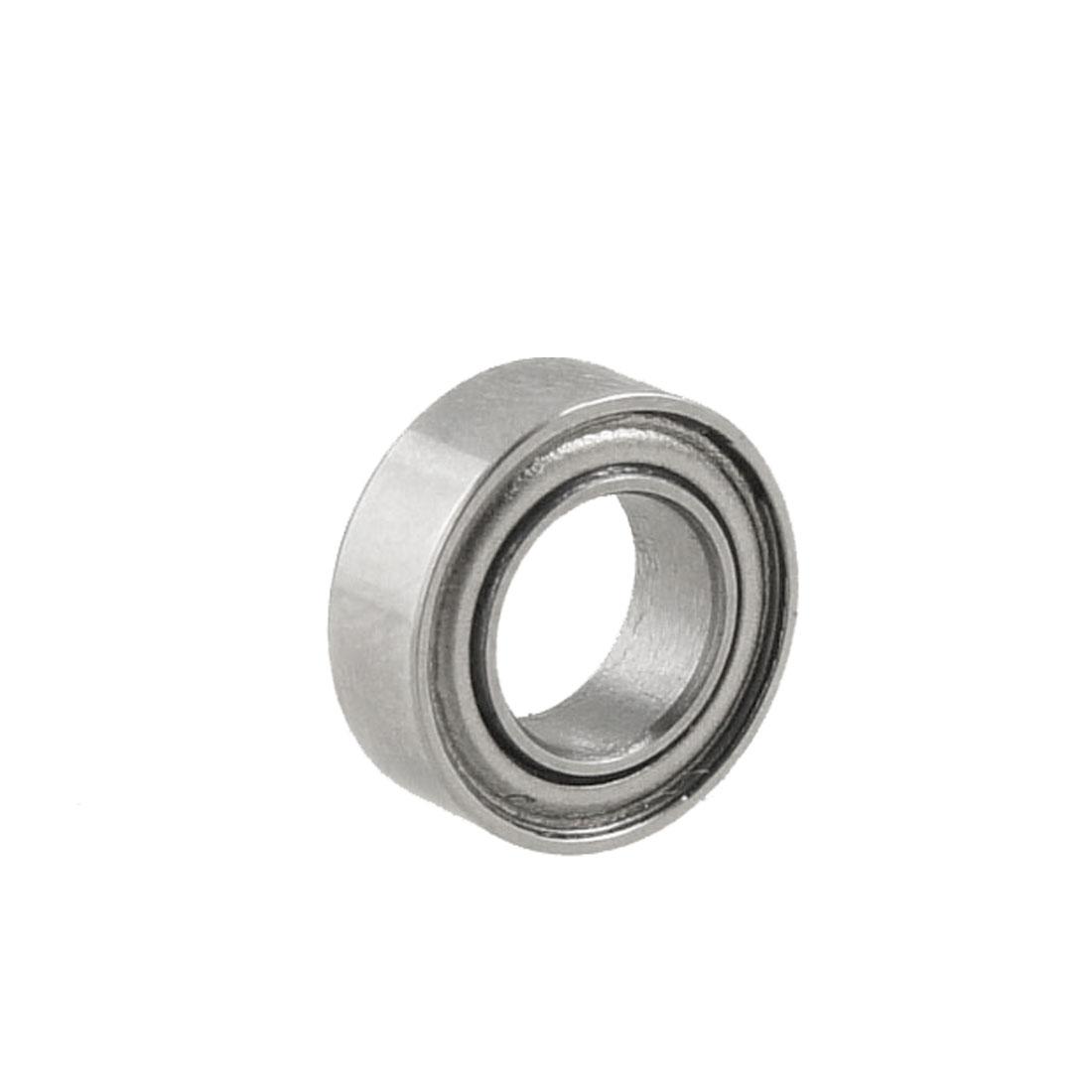 Silver Tone Metal 9mm x 5mm x 3mm Shield Premium Ball Bearing