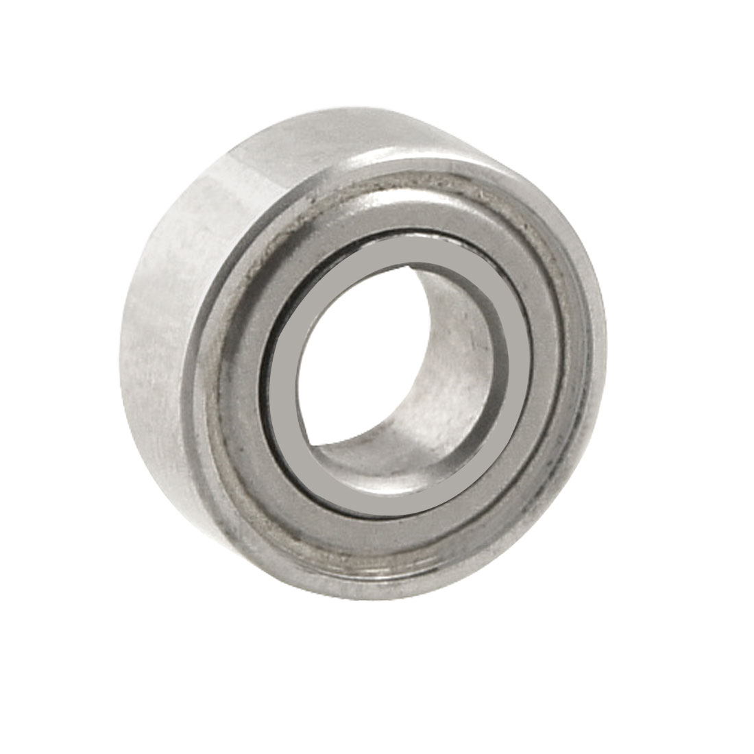 Silver Tone 11mm x 5mm x 4mm Metal Double Sealed Ball Bearing