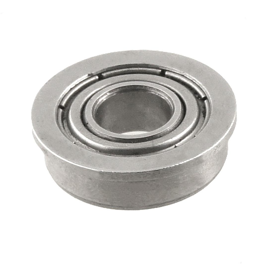 Silver Tone Metal 16mm x 6.5mm x 5mm Shield Ball Bearing