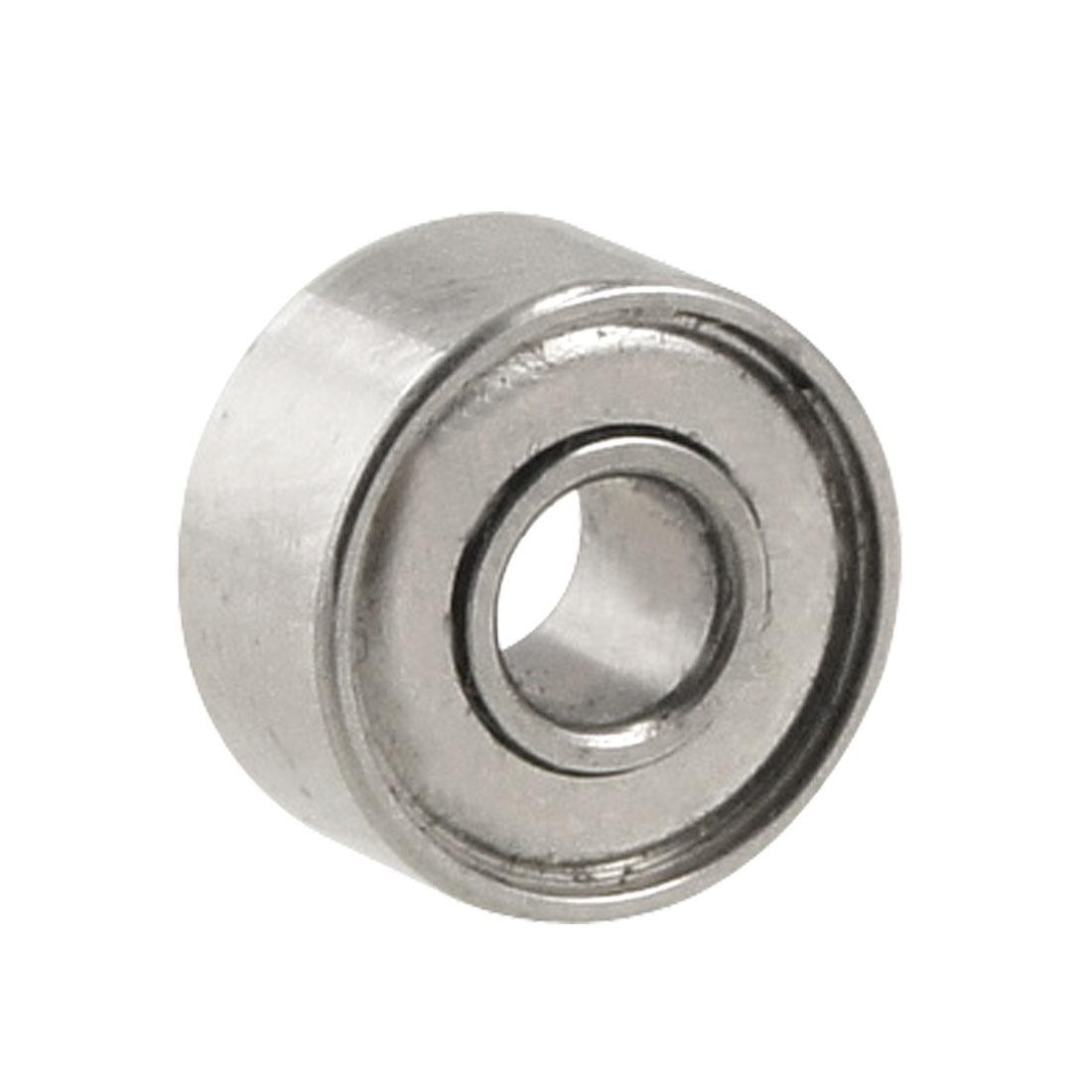 Silver Tone Magnetic 8mm x 3mm x 4mm Shield Premium Ball Bearing