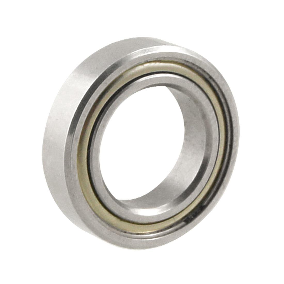 Silver Tone Metal 16mm x 9.5mm x 4mm Shield Ball Bearing