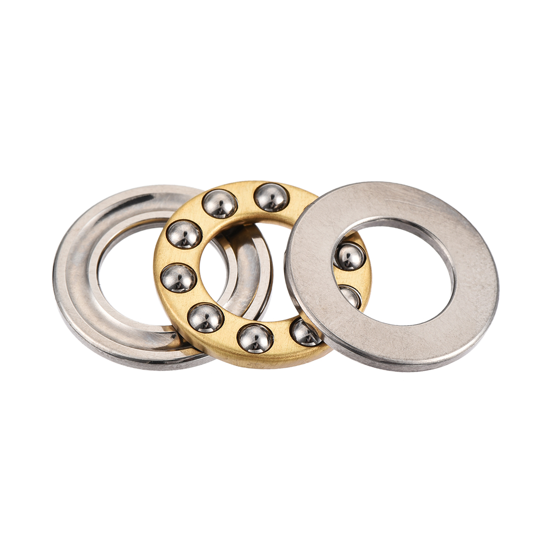 18mm x 10mm x 5.5mm Silver Tone Metal Ball Thrust Bearing