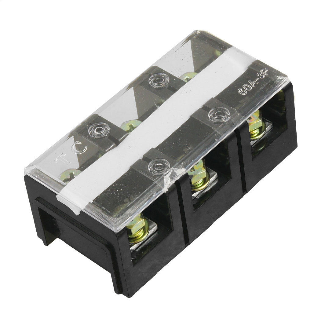 600V 60A Double Row 3 Positions Screw Barrier Terminal Block