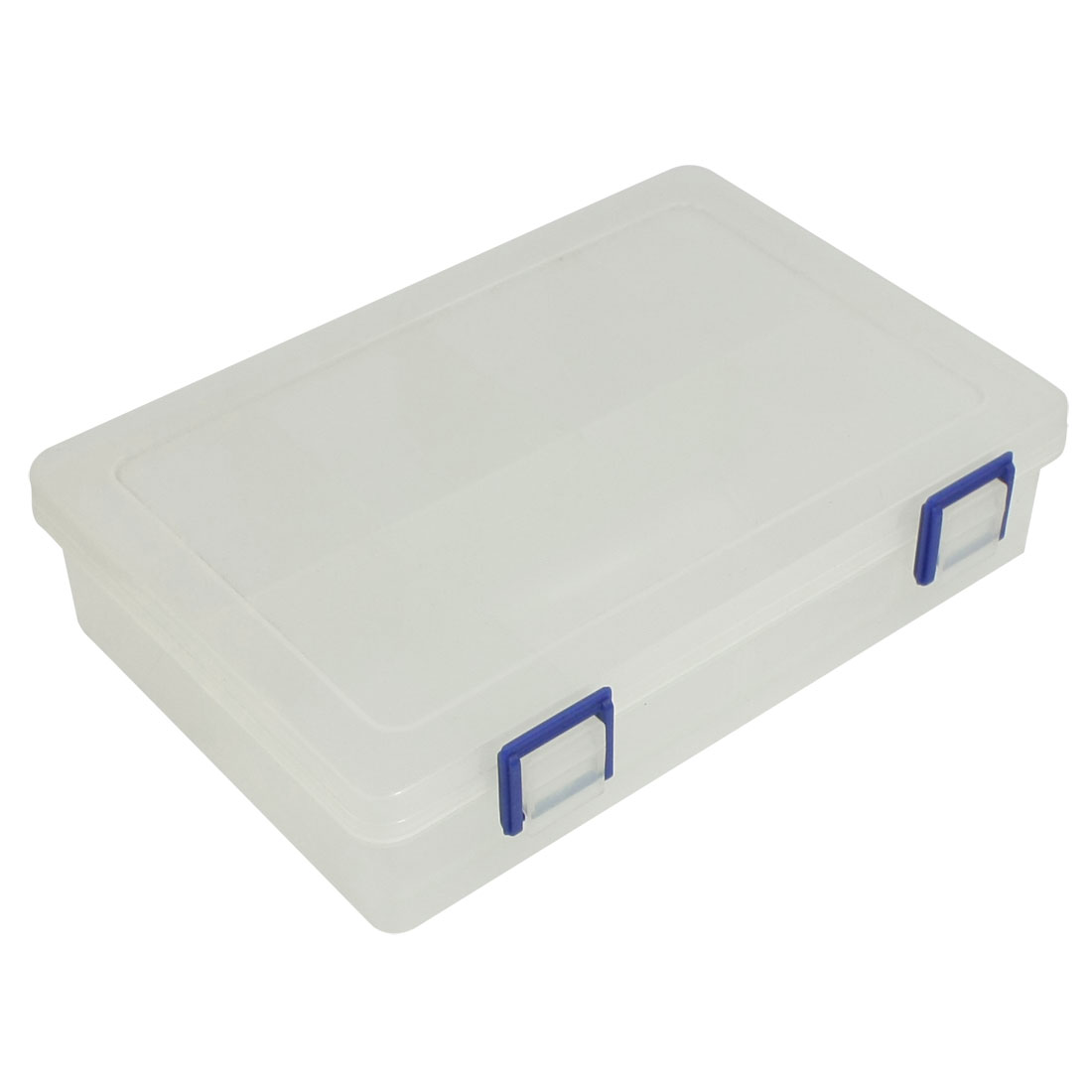 Plastic 8 Compartments Electronic Component Storage Box Case Clear White