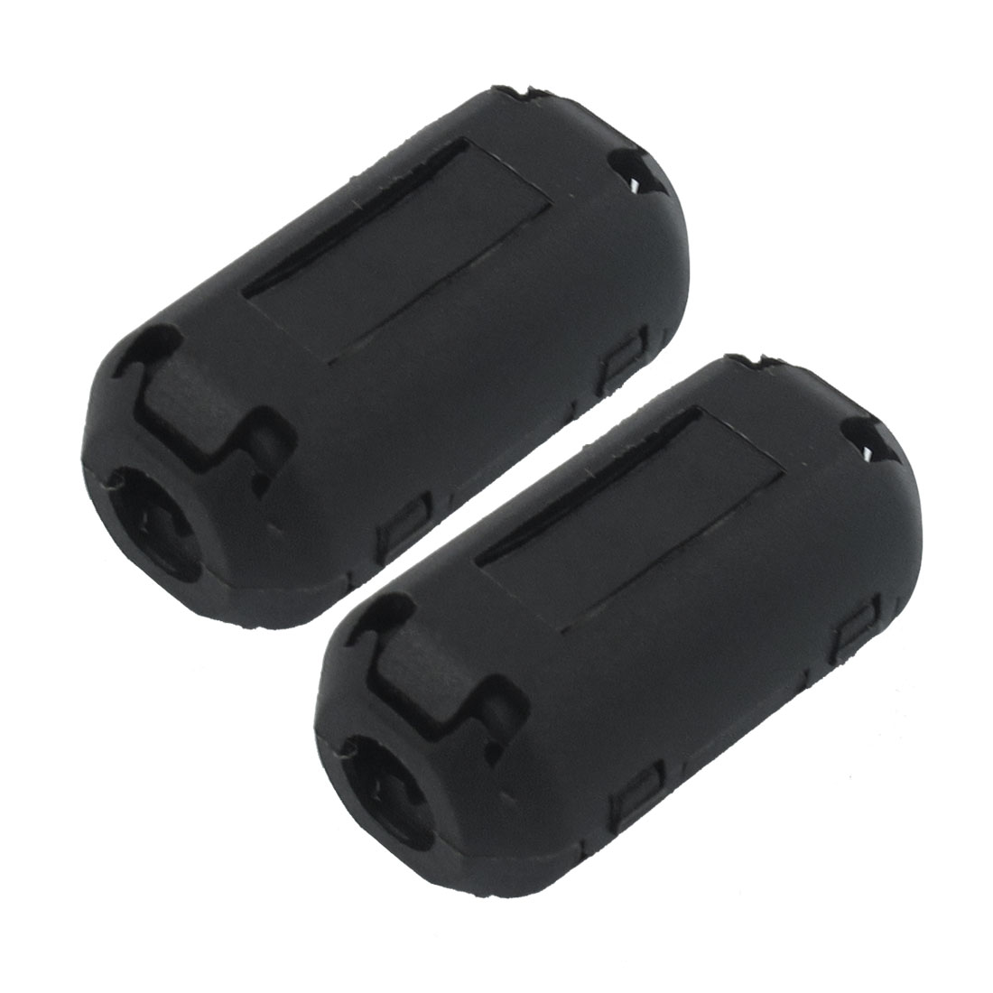2 Pieces 35B Black Plastic Magnet Ferrite Cable Clip for 5mm Cable