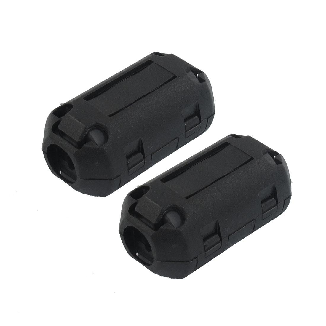 2 Pieces 2070B Black Plastic Magnet Ferrite Cable Clip 29mm Length
