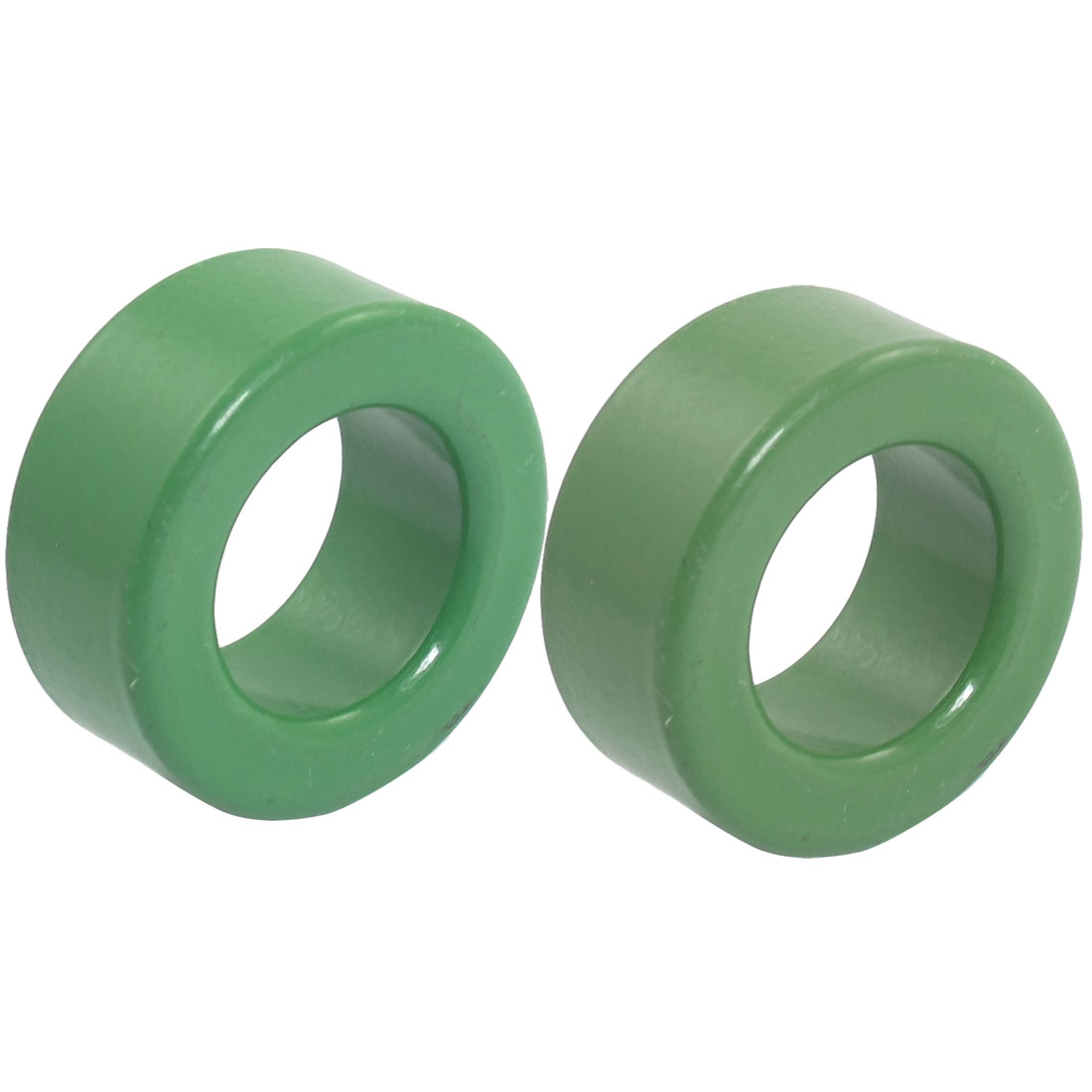 "2 Pieces Green Iron Toroid Ferrite Core 1.2"" x 0.7"" x 0.5"""
