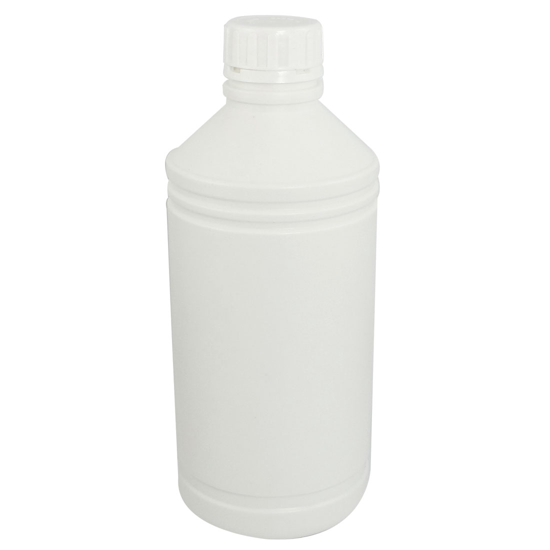 1000mL Capacity Chemical Storage Clear White Plastic Lab Bottle
