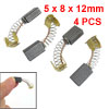 "4 Pcs 0.2"" x 0.3"" x 0.5"" Electric Motor Carbon Brush"