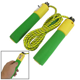 9.35Ft Dual Color Handle Digital Counter Yellow Nylon Rubber Jump Rope