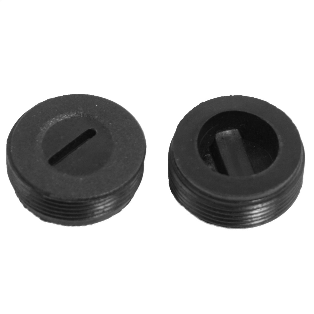 2 Pcs Male Threaded 22mm Diameter Carbon Brush Holder Cap Cover