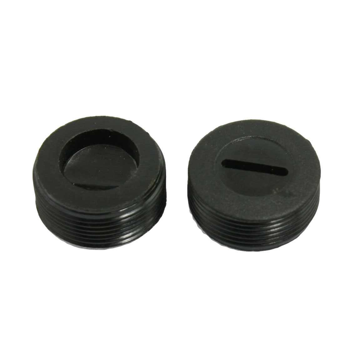 2 Pcs Threaded 20mm Diameter Carbon Brush Holder Back Cap