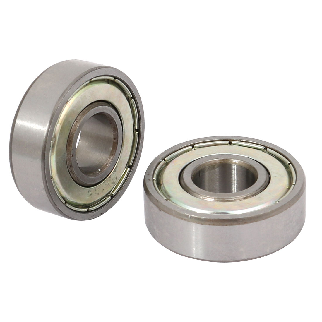 2 Pcs 6201 Dual Metal Shields Deep Groove Ball Bearing 12mm x 32mm x 10mm
