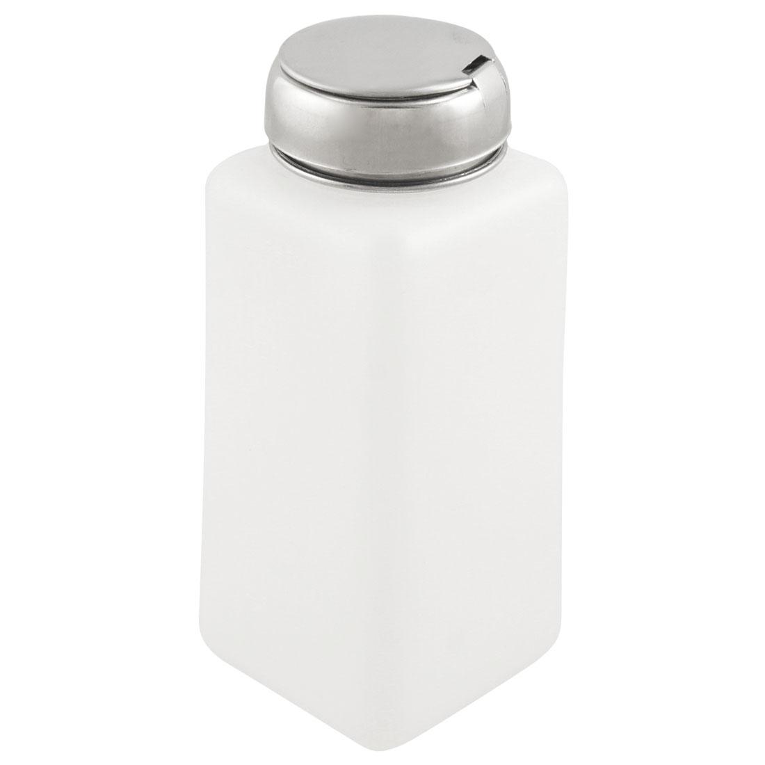 White Plastic Metal Cap Liquid Container Alcohol Bottle 250ml Capacity