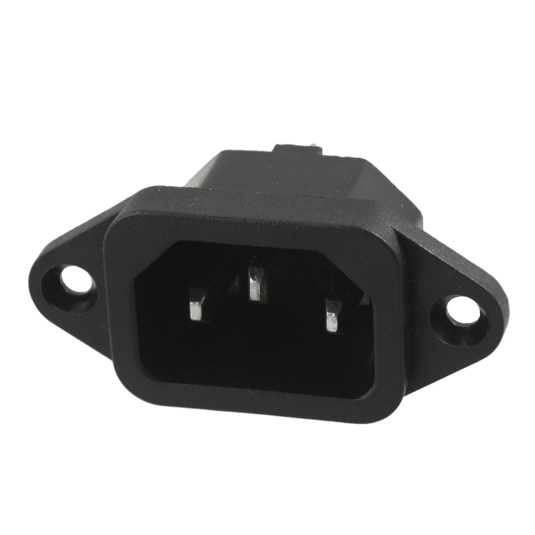 Black Electrical Cooker IEC320 C14 Power 3 Terminal Plug 250V 15A