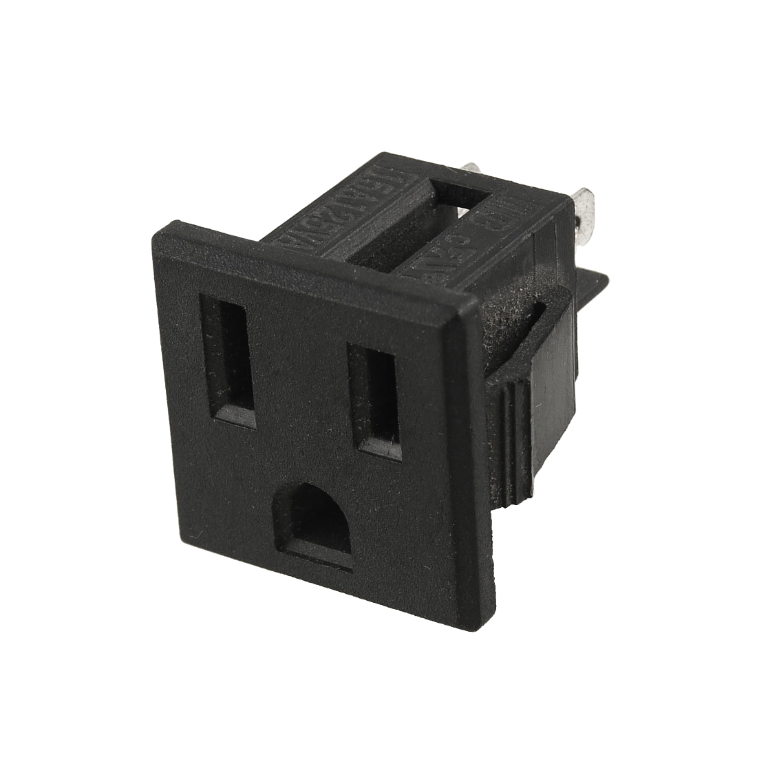 US Plug AC 125V 15A Panel Mount US Outlet Power Socket Black