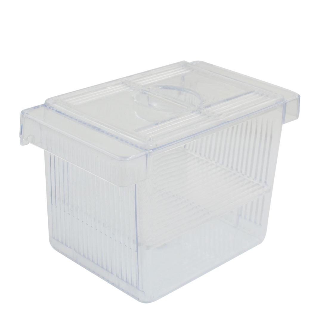 Aquarium Clear Plastic Fish Spawn Hatchery Breeding Breeder Box