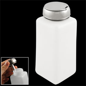 White Plastic Metal Cap Liquid Container Alcohol Bottle 250ml