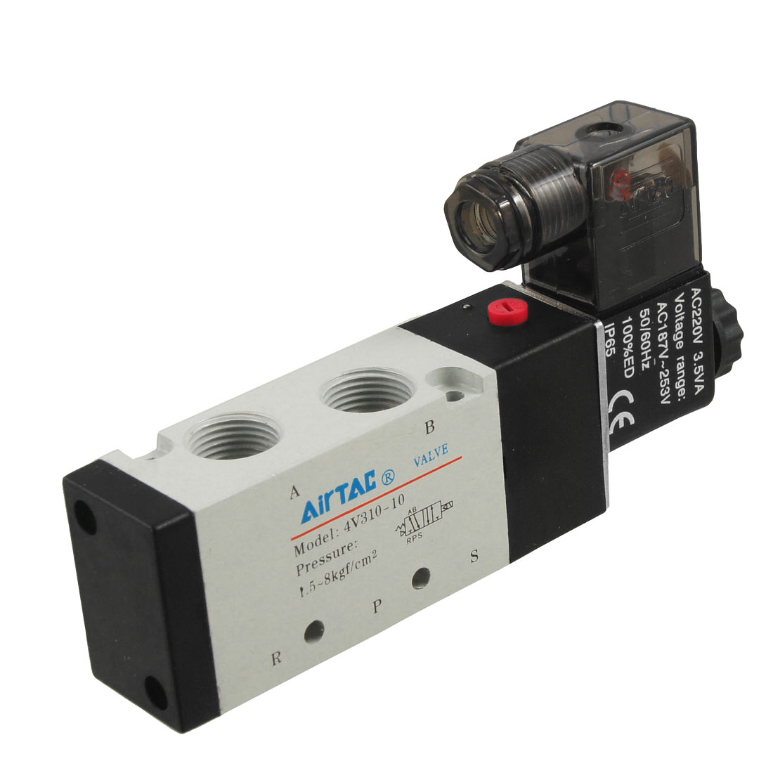 AC 220V 5 Ports 2 Position Internal Piloted Electromagnetic Valve