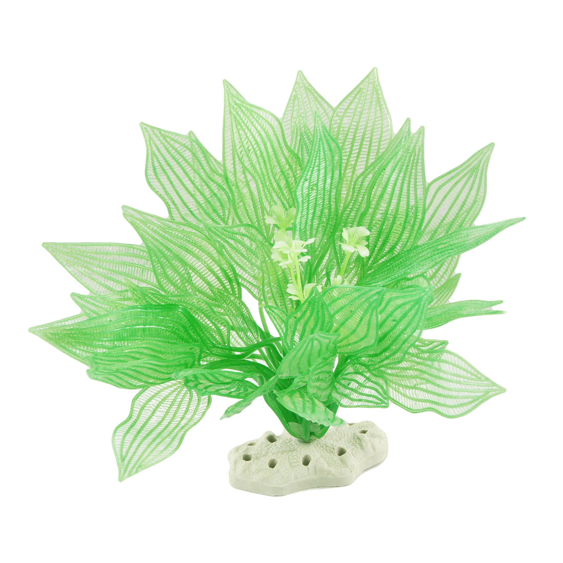 "Fish Tank Green Plastic Emulational Plant Grass Decor 8"""