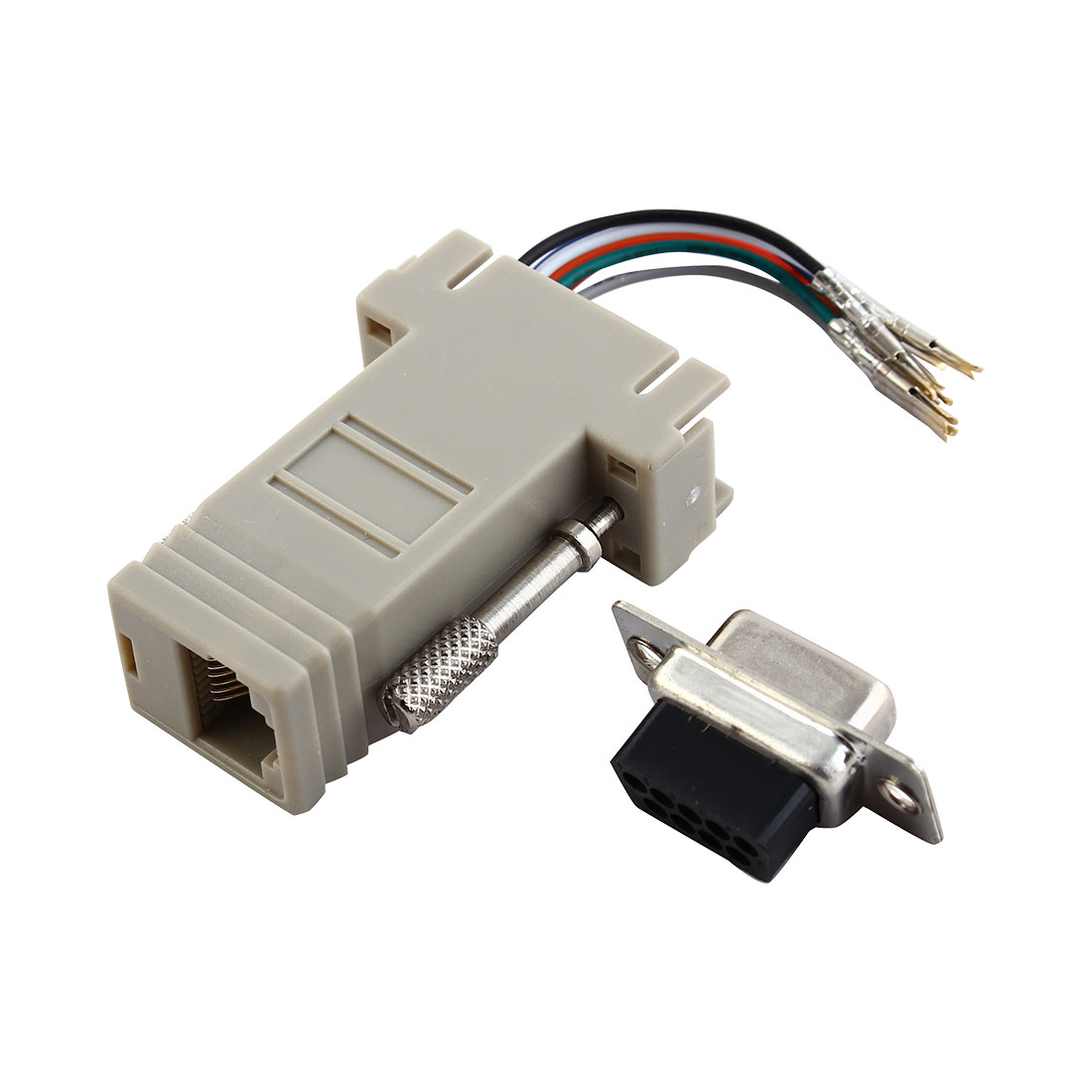 Modular Port DB9 Female to RJ45 8P8C Adapter Converter