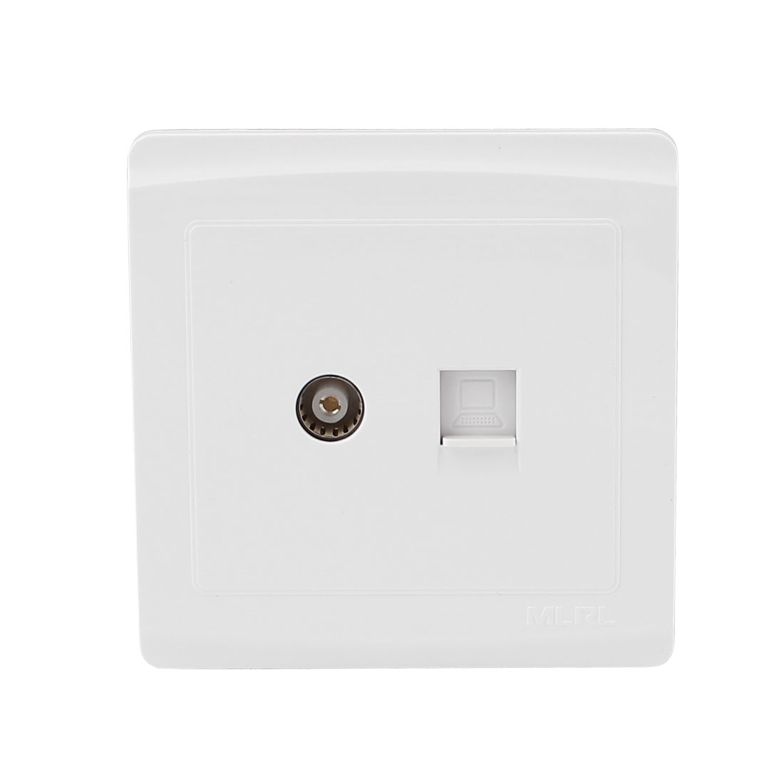 Screws Fixed Plastic RJ45 Computer Cable Socket PAL TV Jack Wall Plate