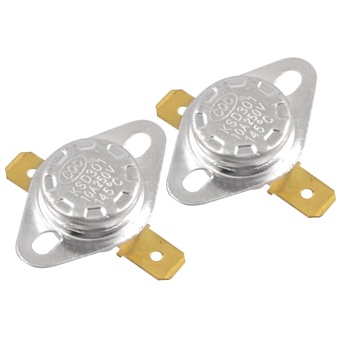2 Pcs 145 Celsius Normal Closed Ceramic Thermostat KSD301