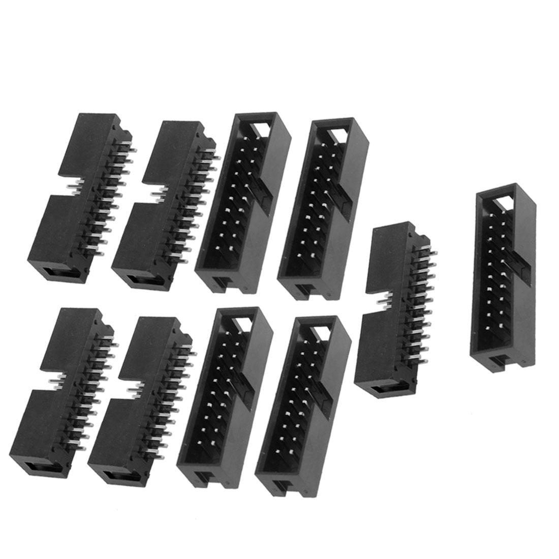 10 Pcs Download Interface 20 Pin Box Header Converter 2.54mm Pitch