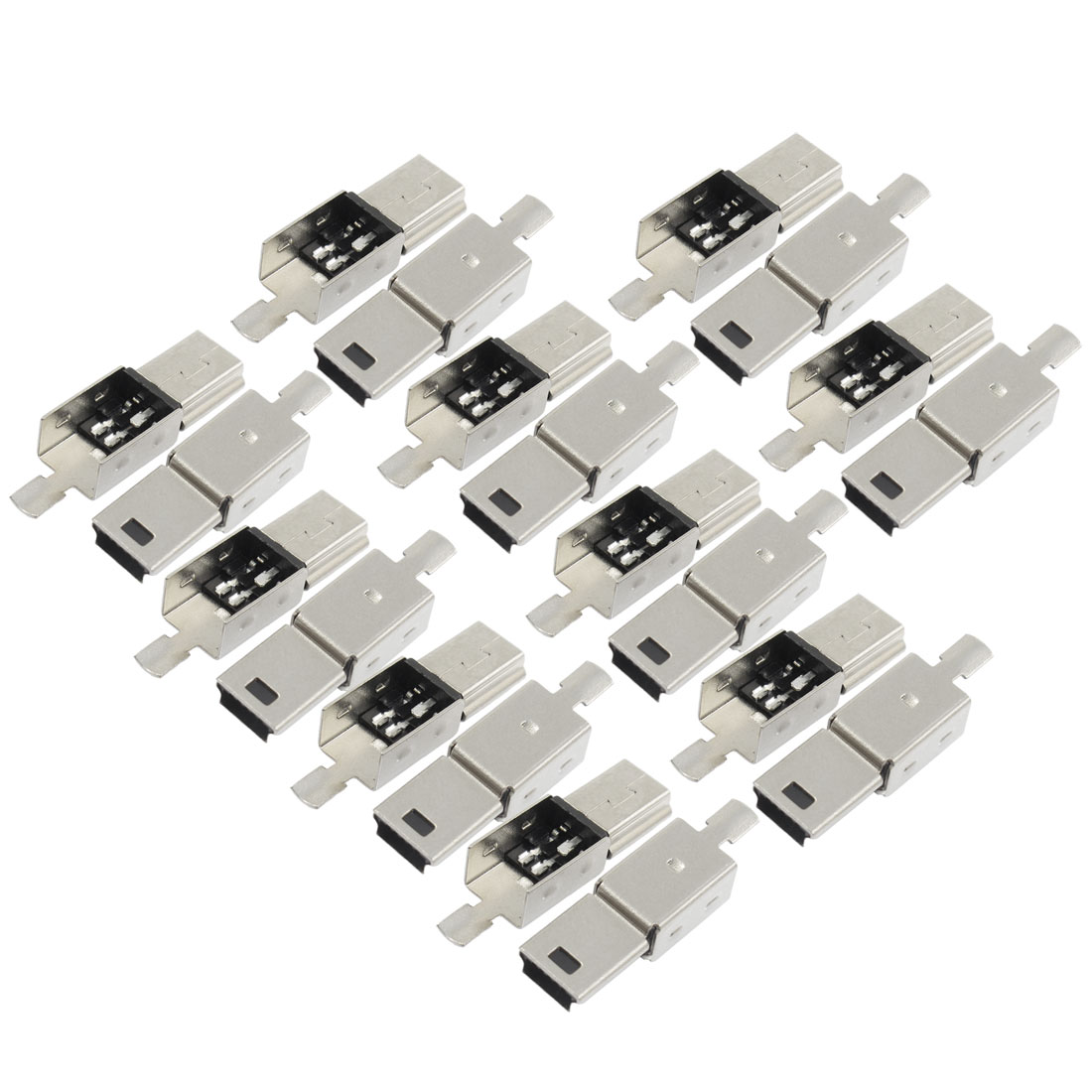Mini USB 5 Pin Type A Male Connector Replacement Port Solder Jack 20 Pcs