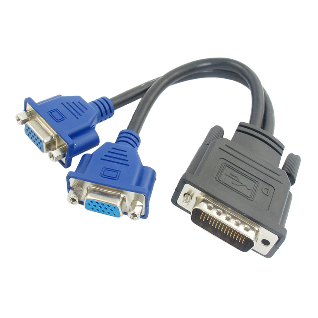 DMS-59 Pin to 2 Dual VGA 15 Pin Female Splitter Adapter Cable