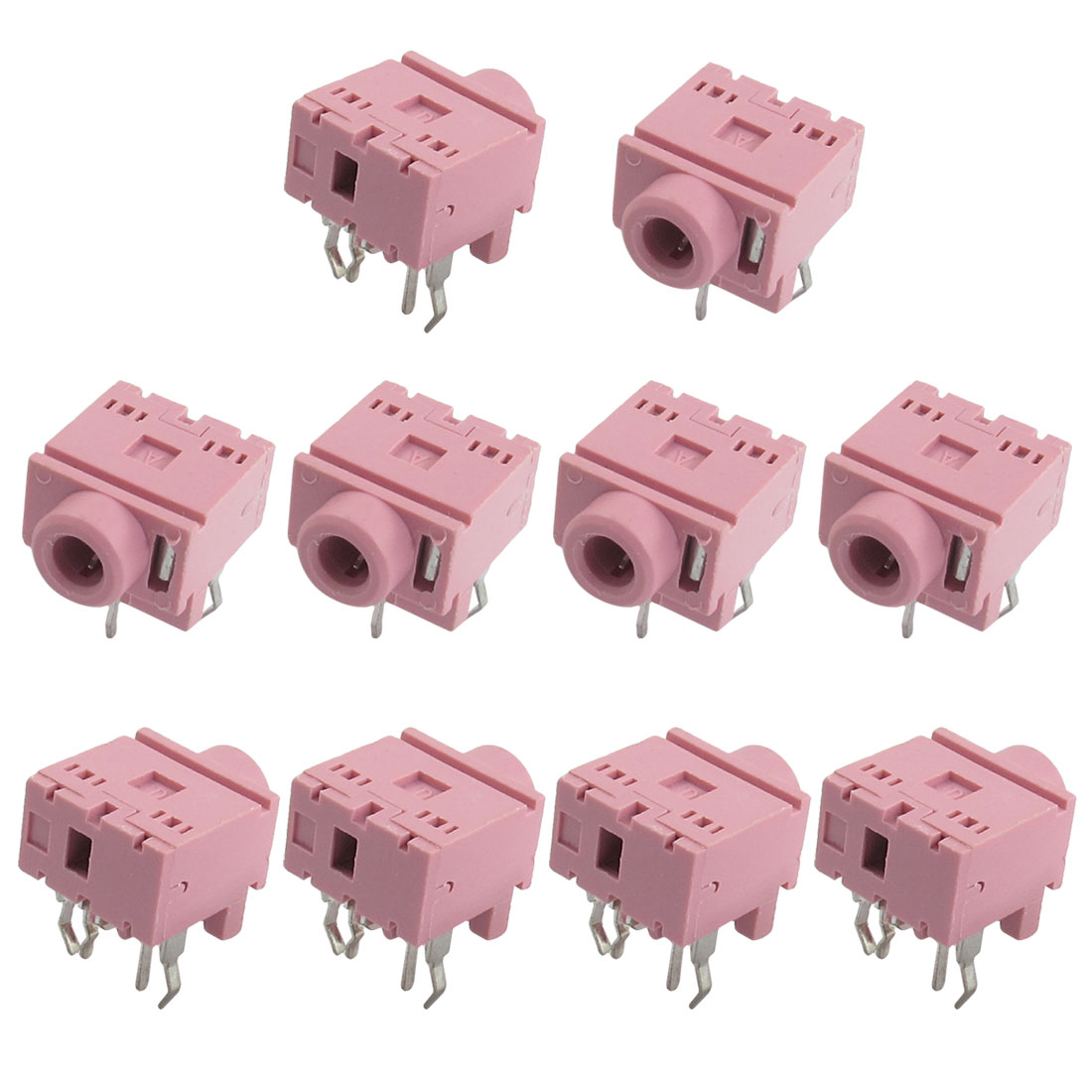 10 Pcs 5 Pin 3.5mm Stereo Jack Socket PCB Mount Connector