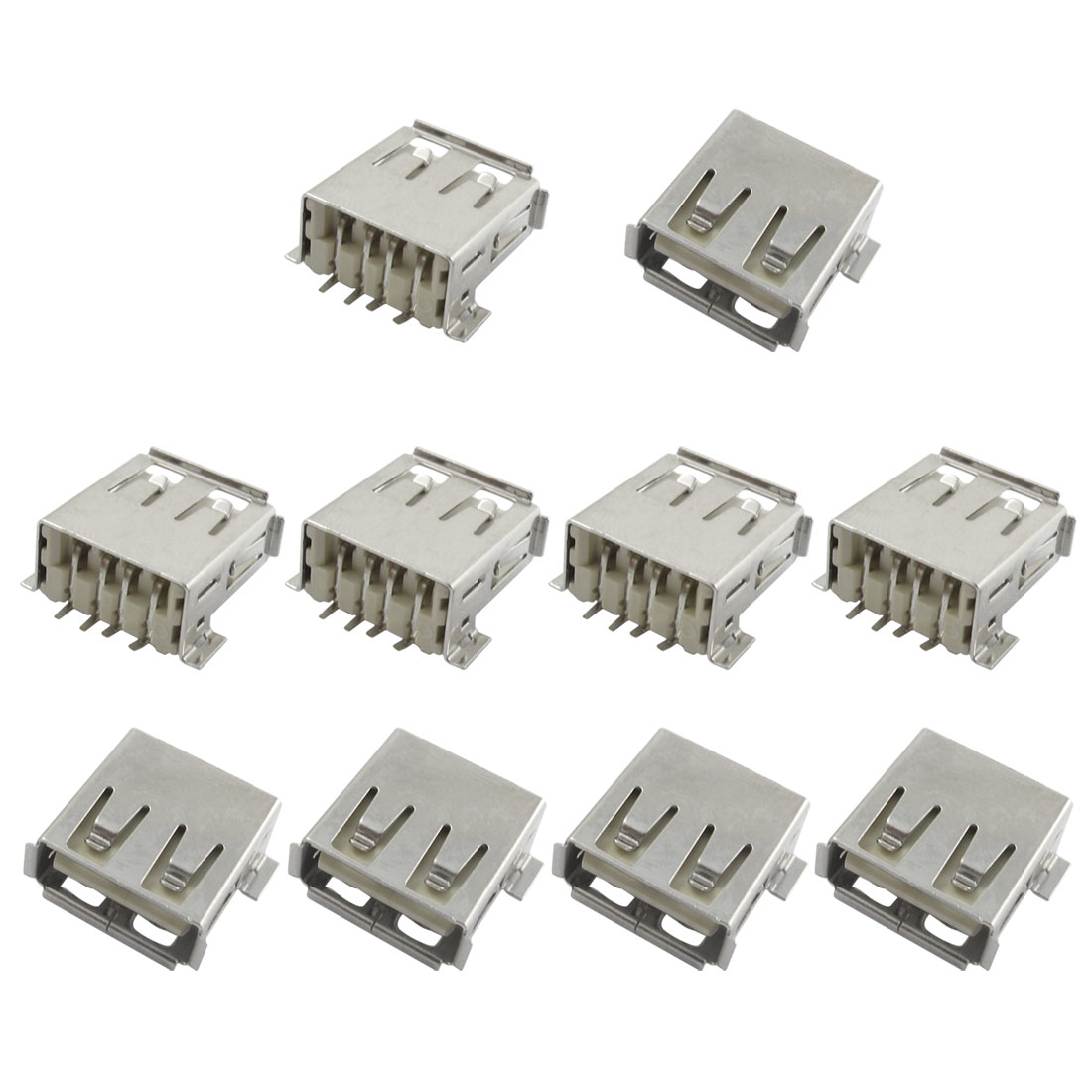 10 x USB Type A Socket Female Solder Adapter Connector