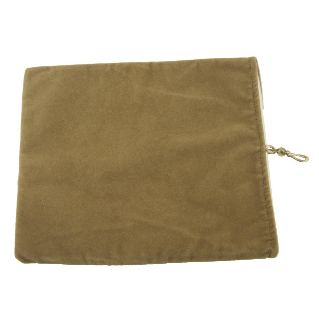 """10"""" 10.1"""" 10.2"""" Velvet Laptop Sleeve Bag Case Pouch Brown"""