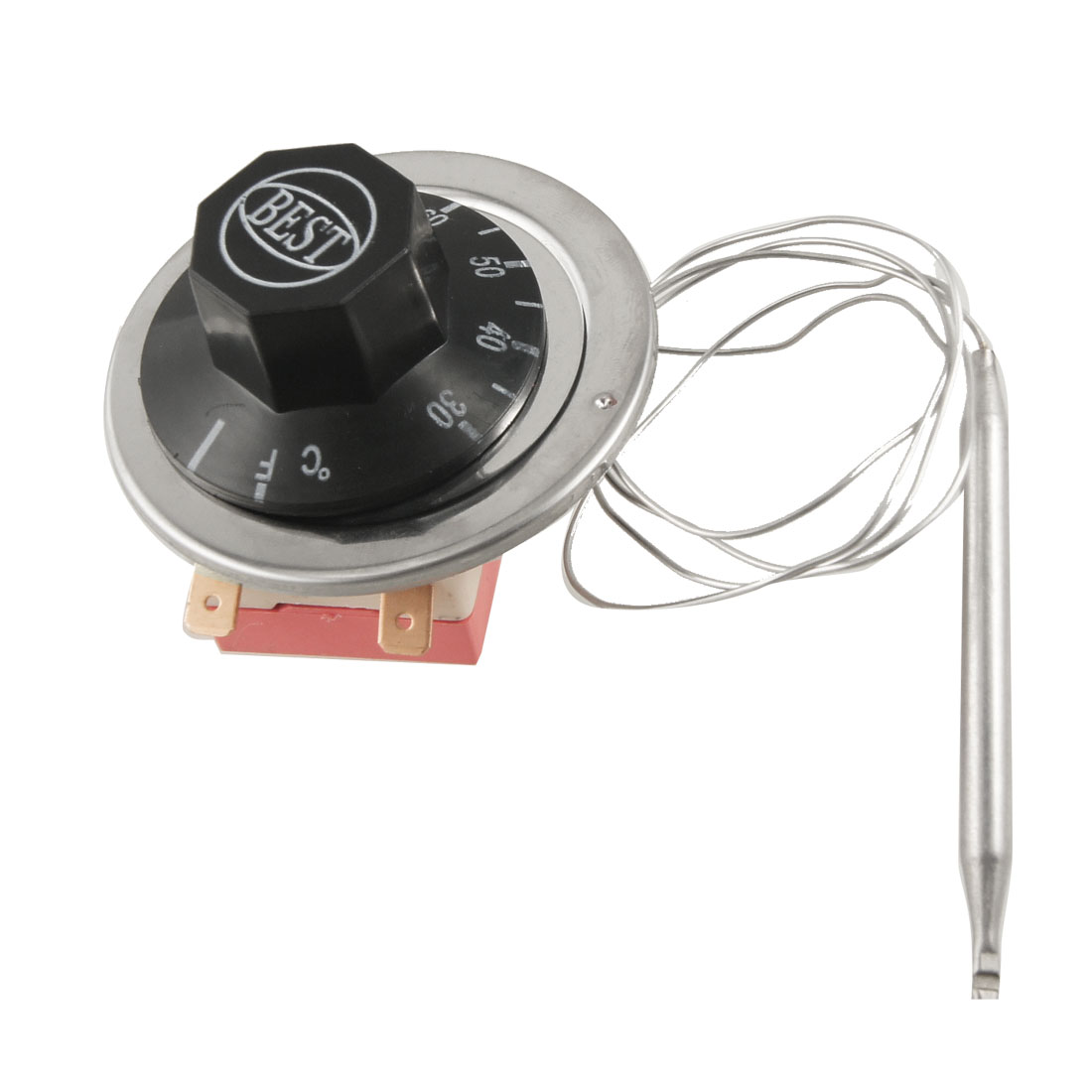 30-80 Celsius Degree Adjustable Temperature Controller Capillary Thermostat