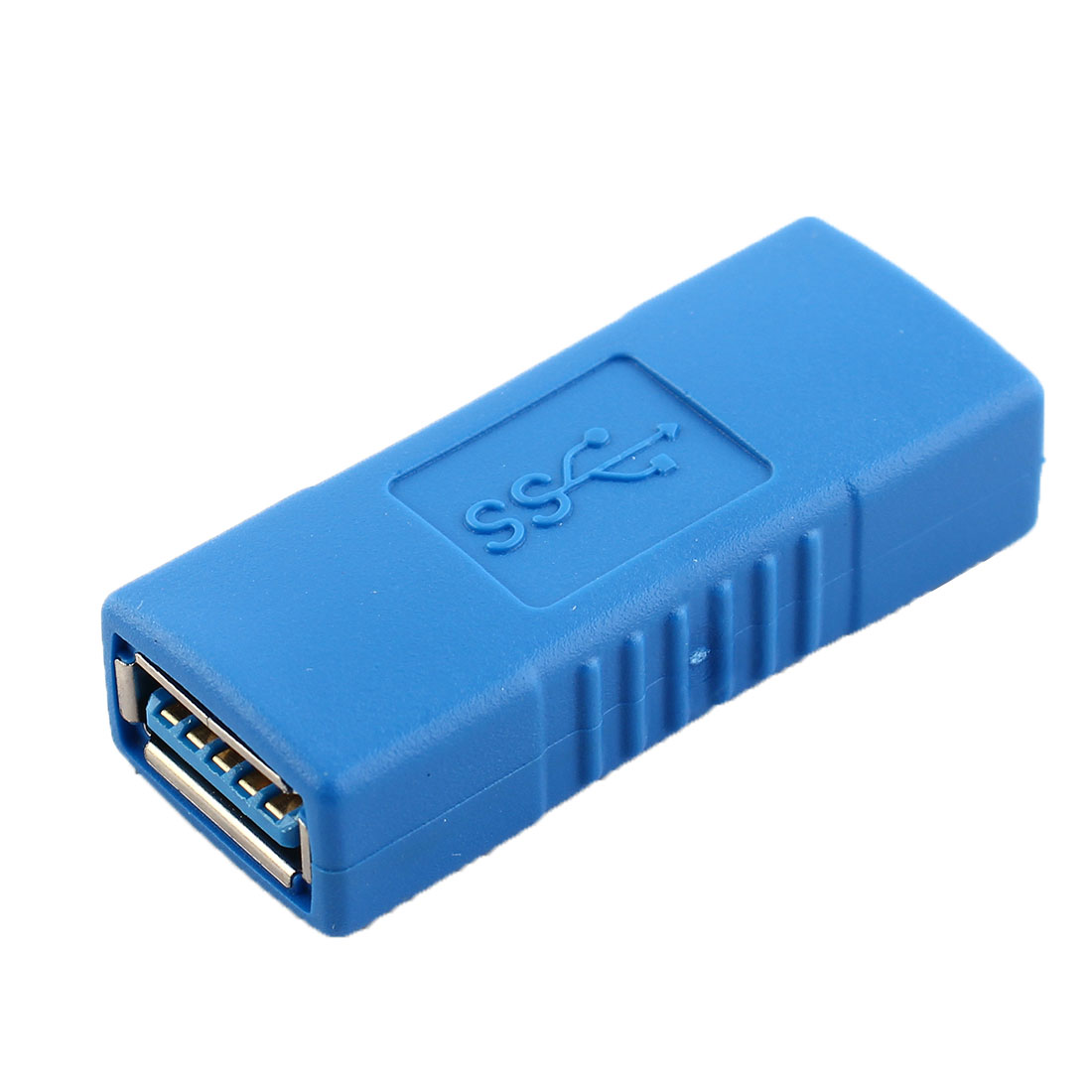 Blue USB 3.0 Female to Female 5 Pin Adapter Connector