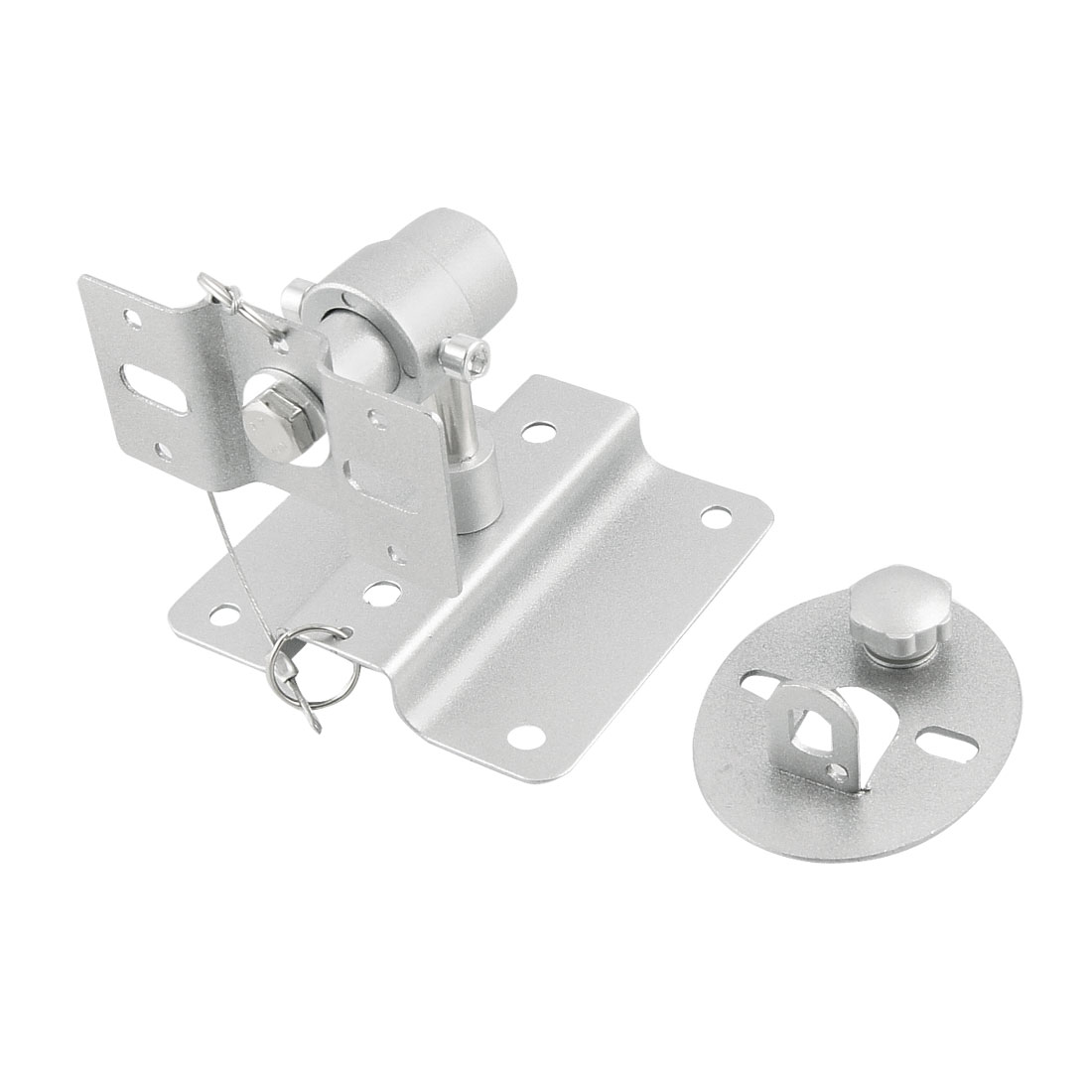 Silver Tone Metal Universal Wall Mount Speaker Bracket Set