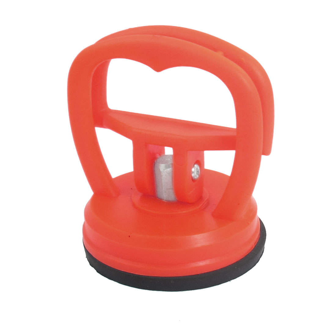 "New Orange Red Plastic Handle 2.2"" Diameter Glass Suction Cup Plate"