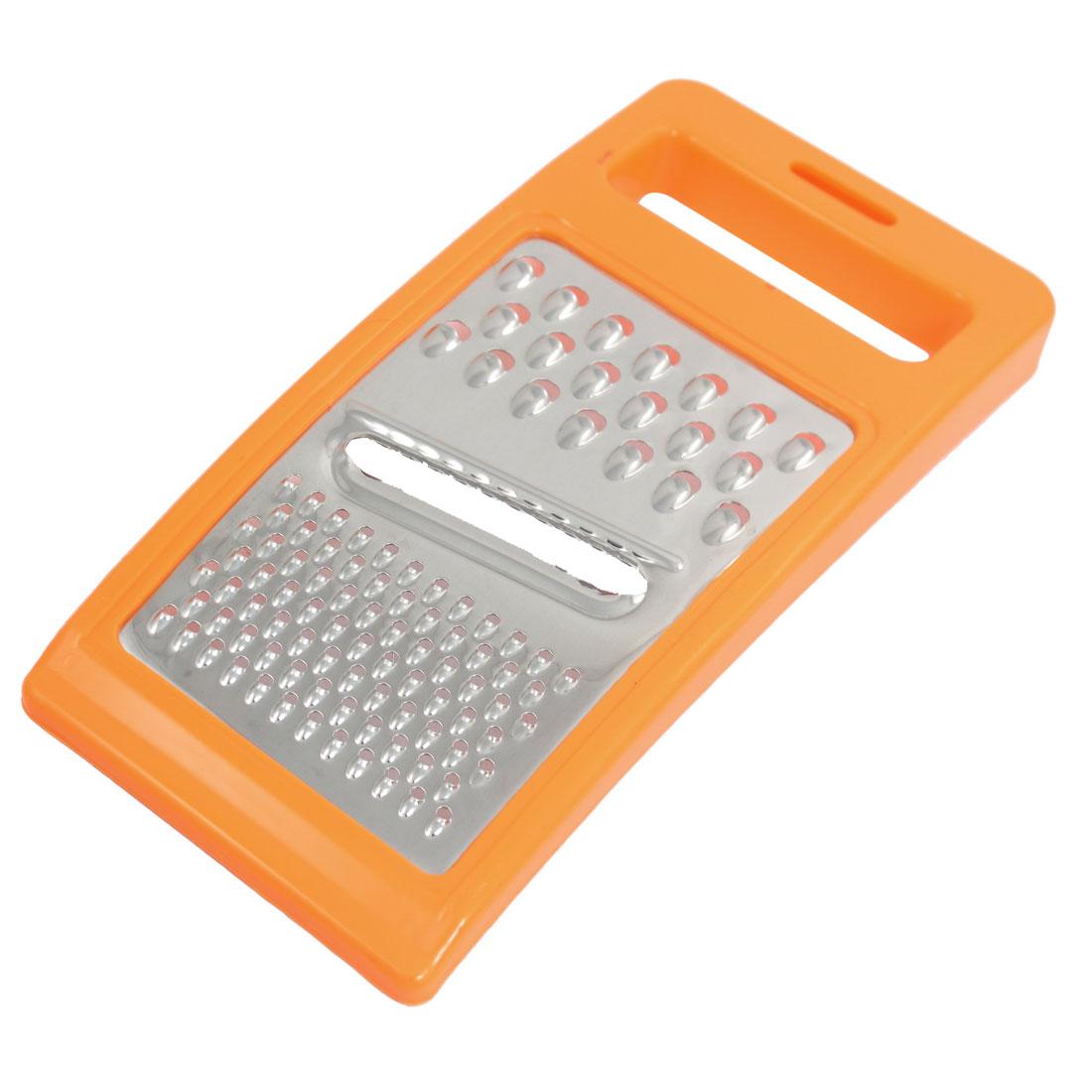Orange Plastic Frame Metal Grater Peeler for Potato Carrot