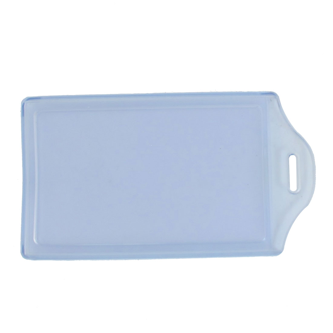 Clear Blue Soft Plastic Vertical Name ID Card Badge Holder