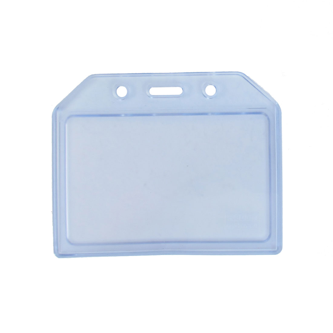 Clear Blue Soft Plastic Horizontal Business Name ID Card Badge Holder Container Cover