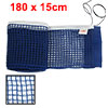 Deep Blue Nylon Table Tennis Fitness Ping Pong Net Set Organizer w Pull String