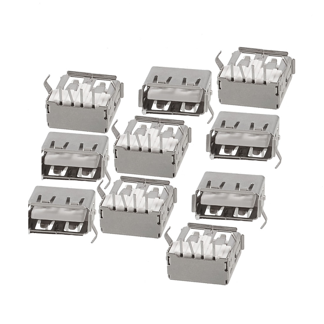 10 Pcs USB A Female Jack Sink Board Type Connector