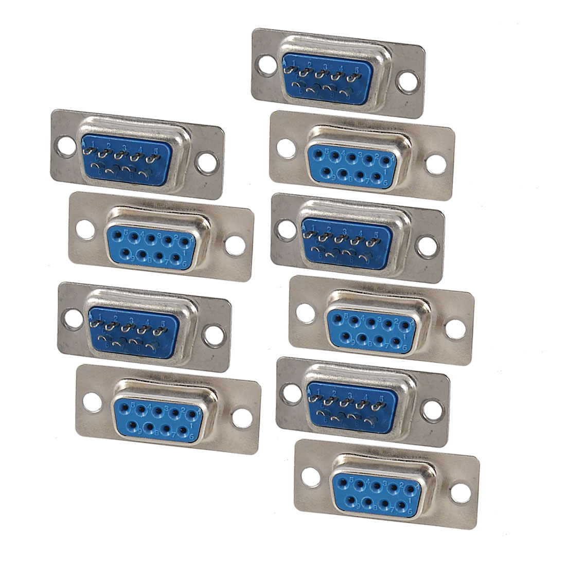 10 Pcs DB9 9 Pin Female Jack Adapter Connector Replacement
