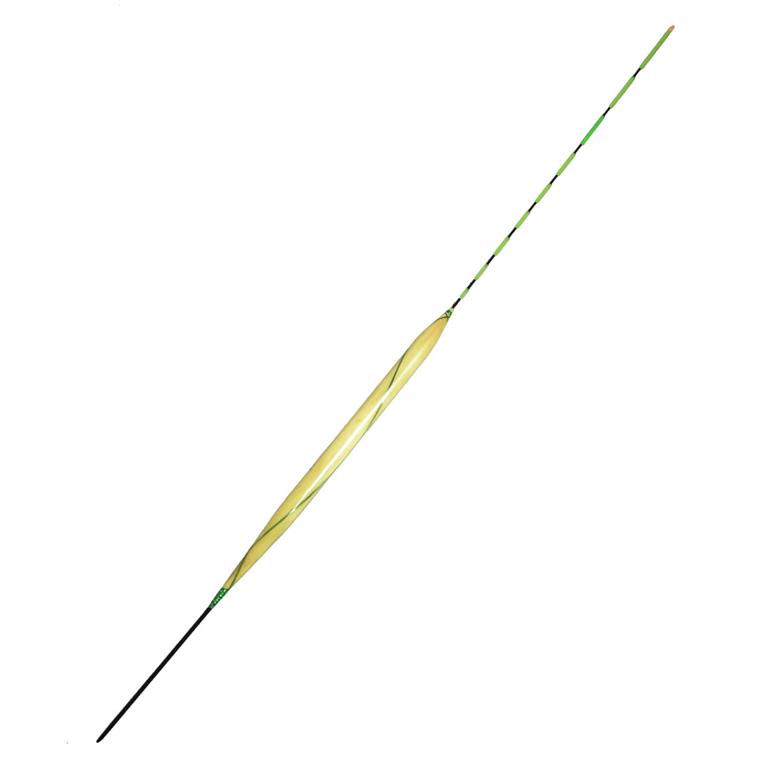 "13.8"" Long Green Black Stripes Wood Plastic Fishing Bobber Float"